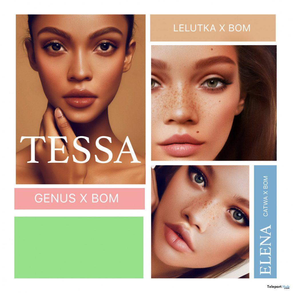 Tessa, Elena, & Opal Skin Appliers Fatpack June 2020 Group Gift by PUMEC - Teleport Hub - teleporthub.com