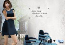 Cross Strap Gladiator Blue June 2020 Group Gift by S@BBiA - Teleport Hub - teleporthub.com