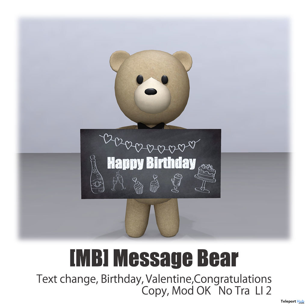 Message Bear June 2020 Group Gift by [MB] - Teleport Hub - teleporthub.com
