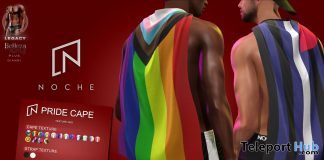Pride Cape June 2020 Group Gift by Noche - Teleport Hub - teleporthub.com