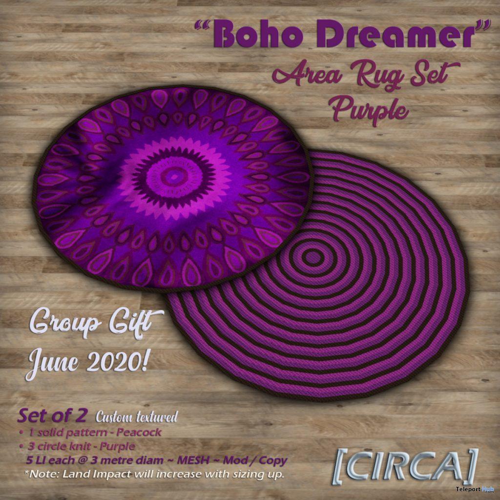 Boho Dreamer Area Rug Set Purple June 2020 Group Gift by CIRCA - Teleport Hub - teleporthub.com