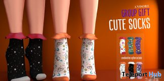 Cute Socks June 2020 Group Gift by ANDORE - Teleport Hub - teleporthub.com