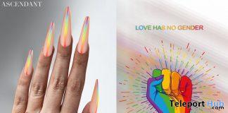 Pride Rainbow Nails June 2020 Group Gift by Ascendant - Teleport Hub - teleporthub.com