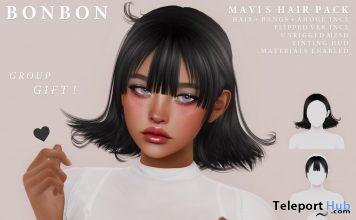 Mavis Hair Pack June 2020 Group Gift by Bonbon - Teleport Hub - teleporthub.com