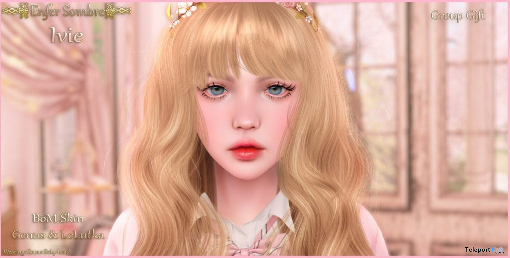 Sadie Skin Applier For Genus Mesh Head 6th Anniversary Group Gift by Enfer Sombre - Teleport Hub - teleporthub.com