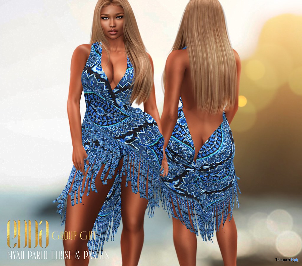 Nyah Pareo Dress & Pantie July 2020 Group Gift by E.D.D.A Boutique - Teleport Hub - teleporthub.com