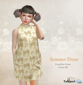 Summer Dress June 2020 Group Gift by Korpokkur House - Teleport Hub - teleporthub.com