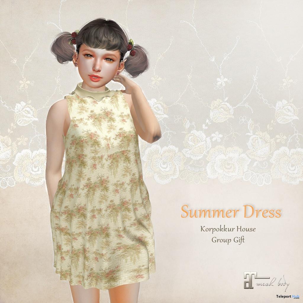 Summer Dress June 2020 Group Gift by Korpokkur House - Teleport Hub - teleporthub.com