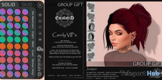 Juniper & Candy Hair Pack June 2020 Group Gift by EscalateD - Teleport Hub - teleporthub.com