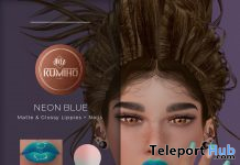 Neon Blue Lipsticks & Nail Appliers June 2020 Group Gift by KUMIHO x j!NX - Teleport Hub - teleporthub.com