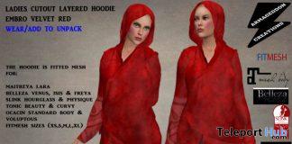 Ladies Asymmetric Cutout Layered Hoodie June 2020 Group Gift by Armageddon Creations - Teleport Hub - teleporthub.com