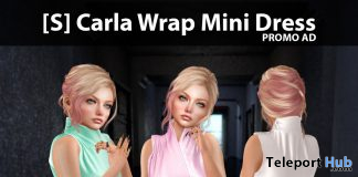 New Release: [S] Carla Wrap Mini Dress by [satus Inc] - Teleport Hub - teleporthub.com