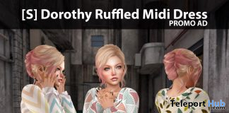 New Release: [S] Dorothy Ruffled Midi Dress by [satus Inc] - Teleport Hub - teleporthub.com