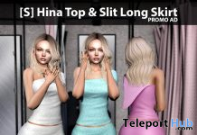 New Release: [S] Hina Top & Slit Long Skirt by [satus Inc] - Teleport Hub - teleporthub.com
