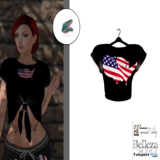 4th of July Crop Top July 2020 Group Gift by Snappy Wear - Teleport Hub - teleporthub.com