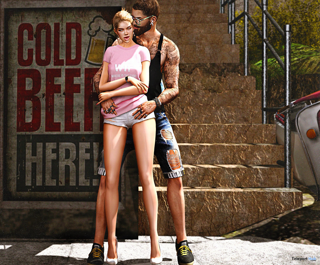 Couple Pose June 2020 Group Gift by Boo'D Up.oses - Teleport Hub - teleporthub.com