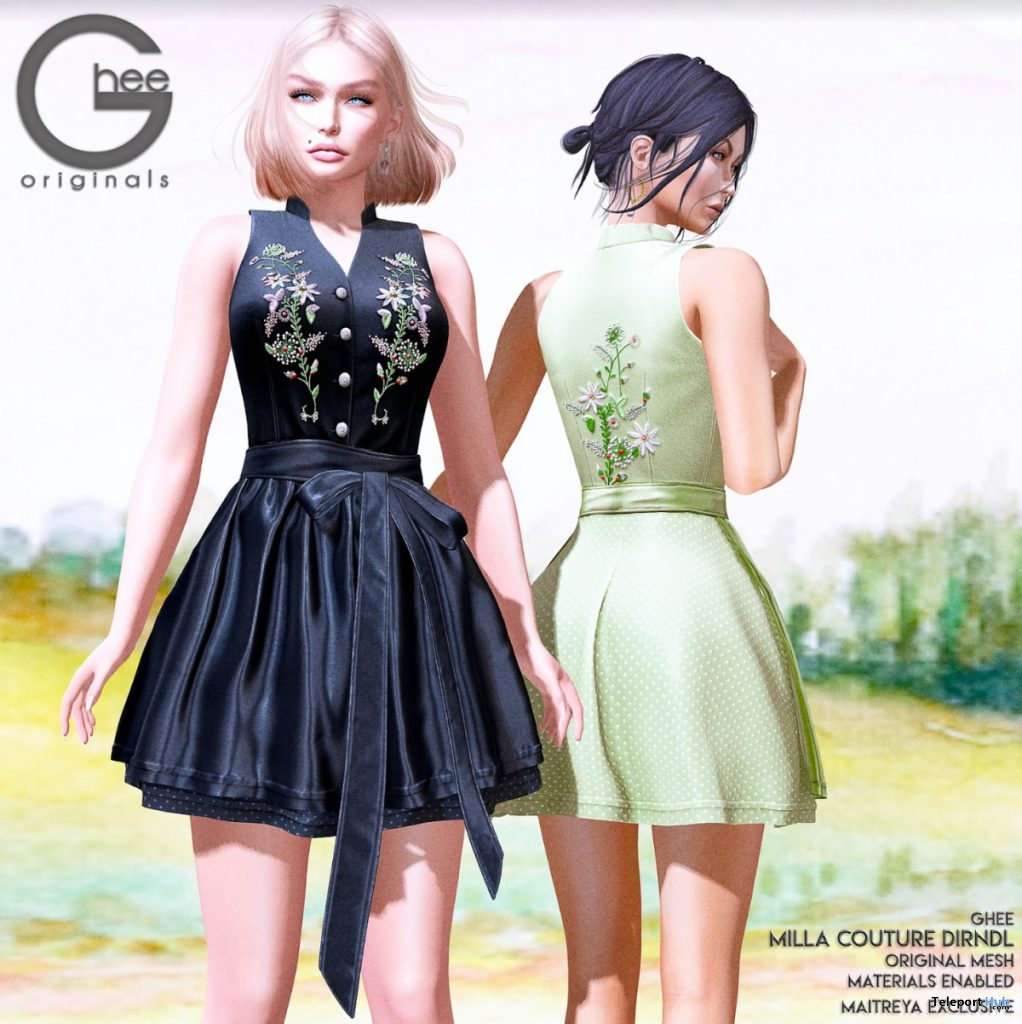 New Release: Milla Dirndl Dress by Ghee @ WIP Event June 2020 - Teleport Hub - teleporthub.com