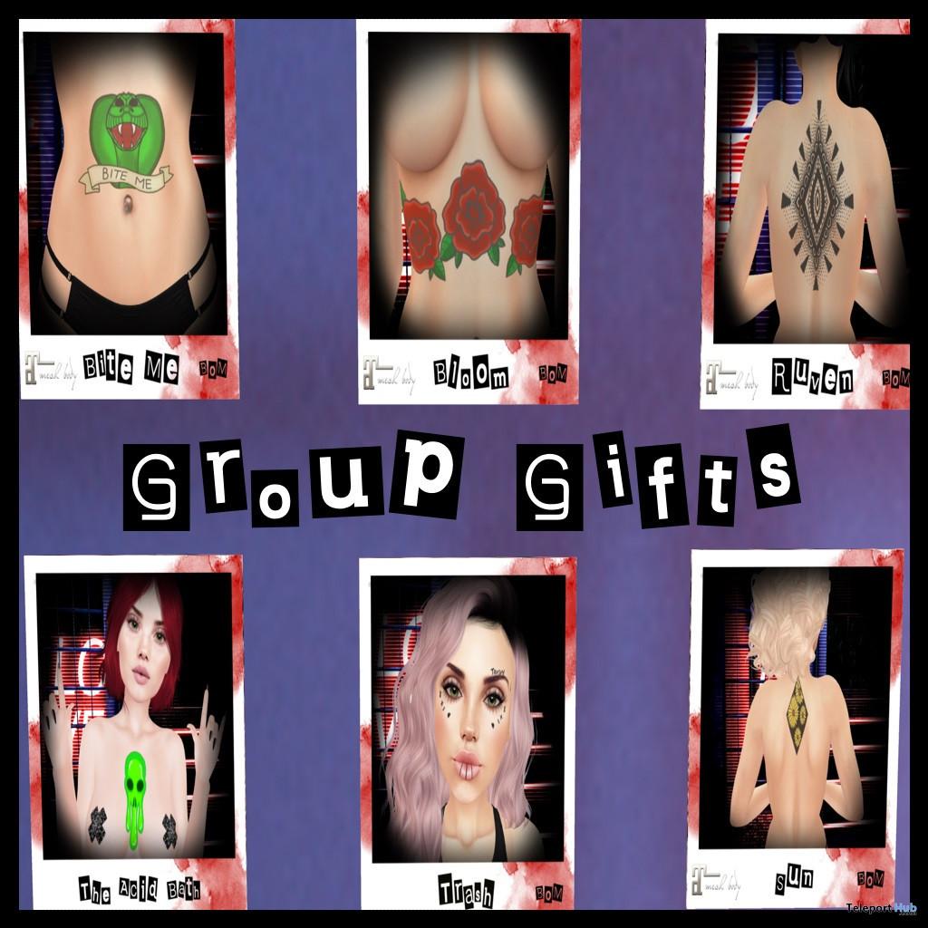 Several Tattoos June 2020 Group Gift by The Acid Bath - Teleport Hub - teleporthub.com