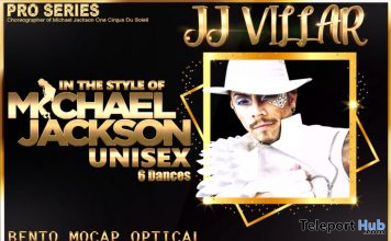 New Release: JJ Villar's Micheal Jackson Unisex Dance Pack by Paragon Dance Animations - Teleport Hub - teleporthub.com