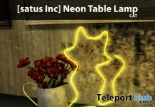 New Release: Neon Table Lamp Cactus & Cat by [satus Inc] - Teleport Hub - teleporthub.com