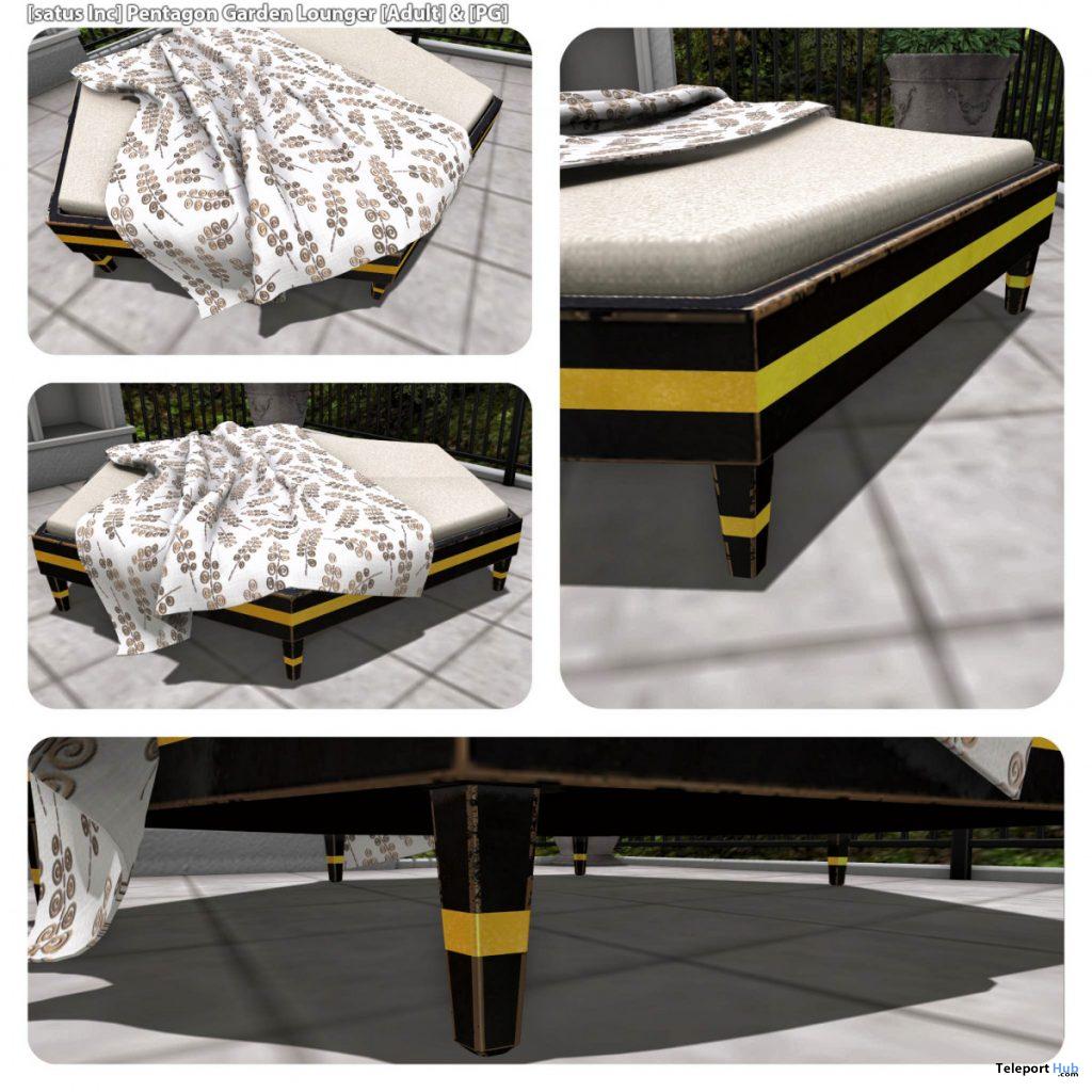 New Release: Pentagon Garden Lounger by [satus Inc] - Teleport Hub - teleporthub.com