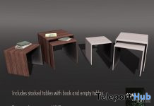 Stacked Tables With Books & Empty June 2020 Gift by ChiC Buildings - Teleport Hub - teleporthub.com