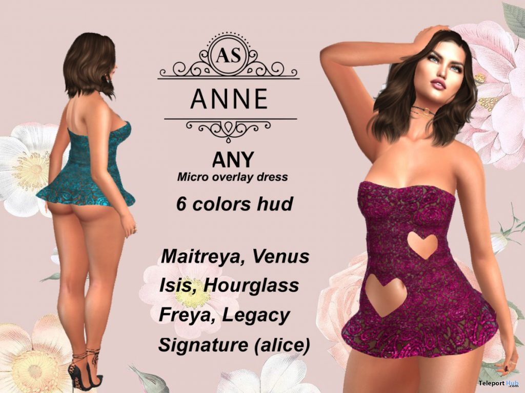 Any Micro Dress Overlay July 2020 Group Gift by AS Couture - Teleport Hub - teleporthub.com