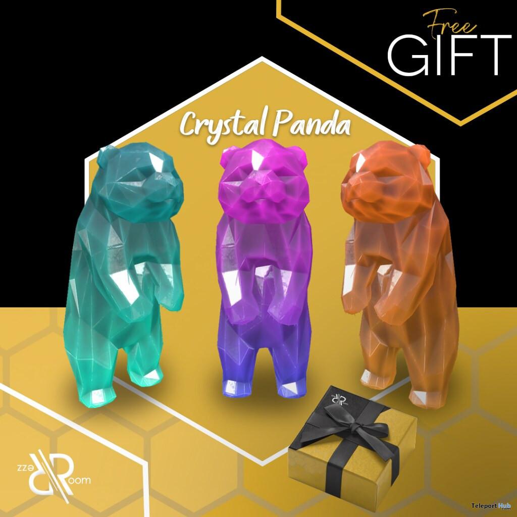 Crystal Panda July 2020 Group Gift by Rezz Room - Teleport Hub - teleporthub.com