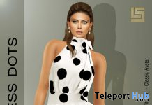 Casual Dots Long Dress July 2020 Group Gift by LS DIAMOND - Teleport Hub - teleporthub.com