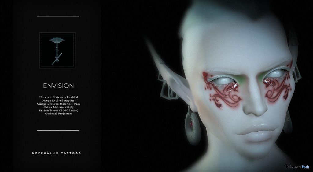 Envision Face Scarring July 2020 Group Gift by Nefekalum Tattoos - Teleport Hub - teleporthub.com
