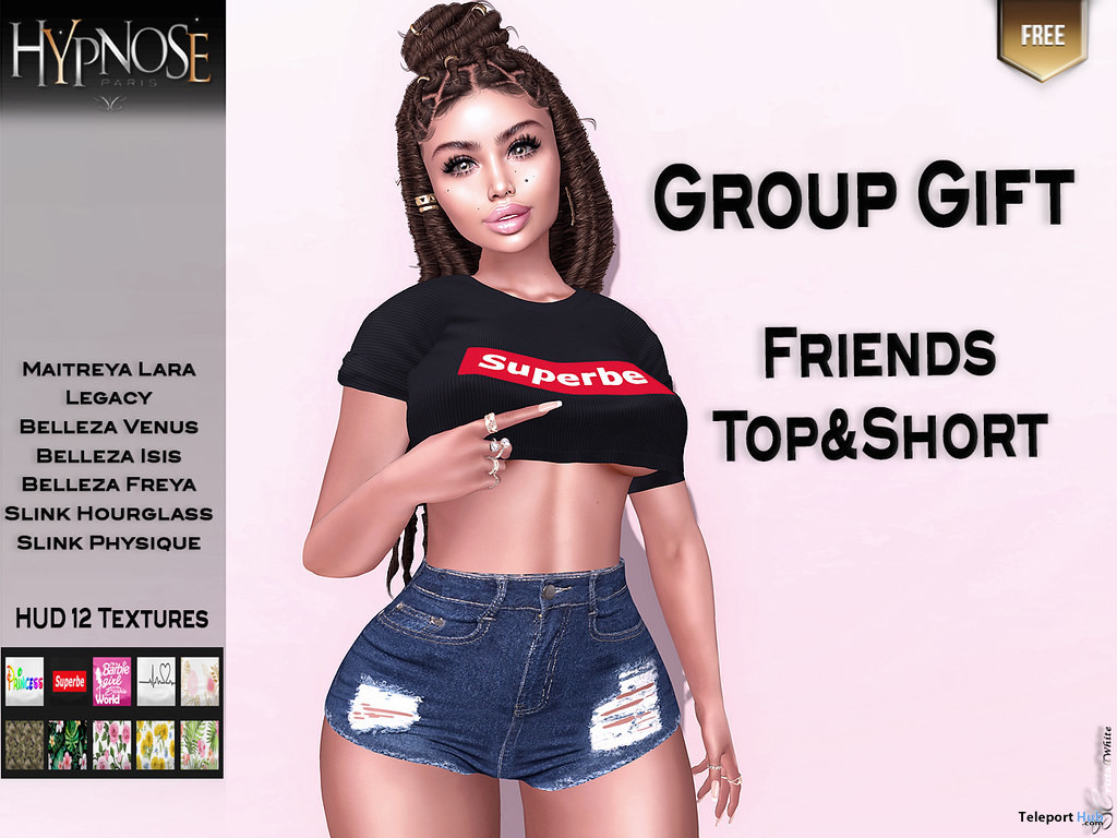 Friends Top & Shorts July 2020 Group Gift by HYPNOSE - Teleport Hub - teleporthub.com