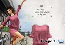 Ruffle Sleeve Loose Shorts July 2020 Group Gift by S@BBiA - Teleport Hub - teleporthub.com