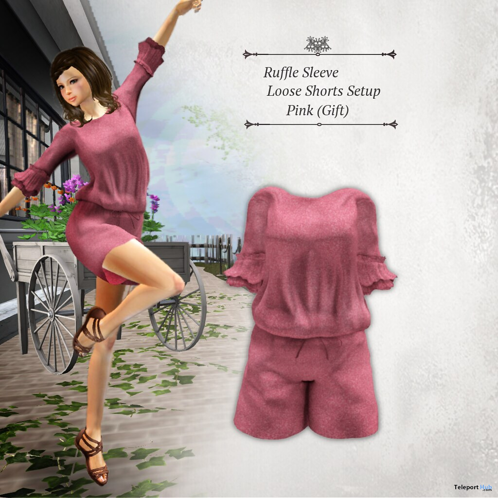 Ruffle Sleeve Loose Shorts July 2020 Group Gift by S@BBiA - Teleport Hub - teleporthub.com
