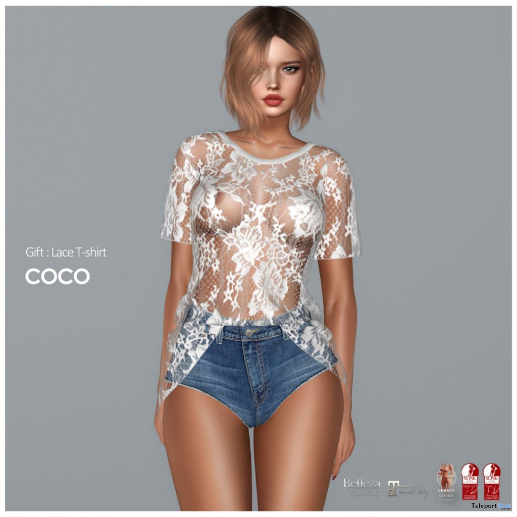 Lace T-shirt July 2020 Group Gift by COCO Designs - Teleport Hub - teleporthub.com