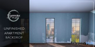 Unfinished Apartment Backdrop July 2020 Group Gift by Synnergy - Teleport Hub - teleporthub.com