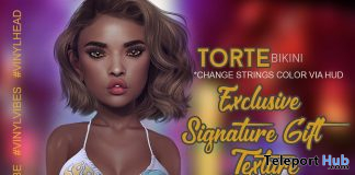 Torte Bikini Pack Signature Exclusive Texture July 2020 Gift by VINYL @ Signature Body - Teleport Hub - teleporthub.com