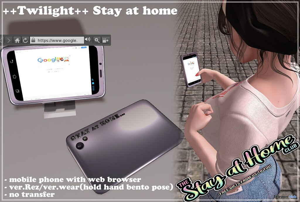 Mobile Phone With Web Browser July 2020 Gift by Twilight - Teleport Hub - teleporthub.com