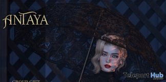 Victorian Lace Umbrella With Pose July 2020 Group Gift by ANTAYA - Teleport Hub - teleporthub.com