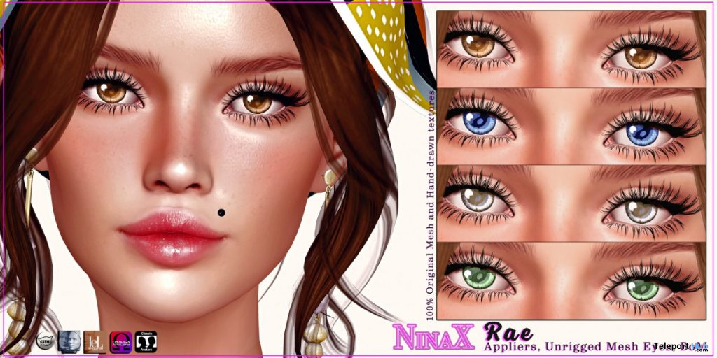 Rae Eyes August 2020 Group Gift by NinaX - Teleport Hub - teleporthub.com