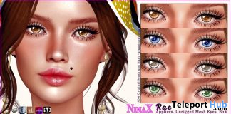 Rae Eyes August 2020 Group Gift by NinaX - Teleport Hub - teleporthub.com