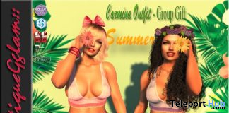 Carmina Outfit July 2020 Group Gift by BoutiqueGglam - Teleport Hub - teleporthub.com