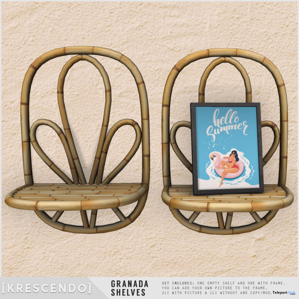 Granada Shelves July 2020 Subscriber Gift by [Krescendo] - Teleport Hub - teleporthub.com