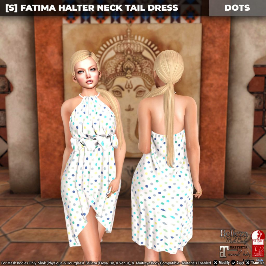 New Release: [S] Fatima Halter Neck Tail Dress by [satus Inc] - Teleport Hub - teleporthub.com