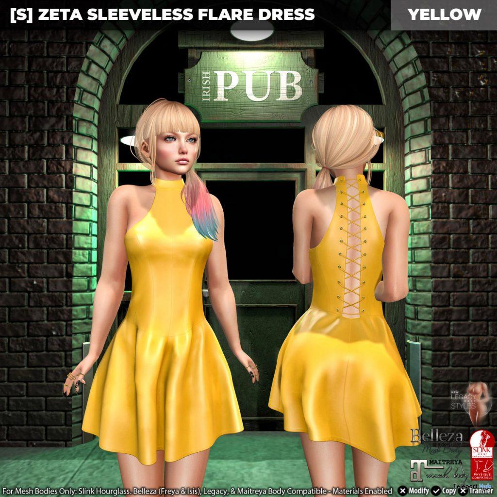 New Release: [S] Zeta Sleeveless Flare Dress by [satus Inc] - Teleport Hub - teleporthub.com