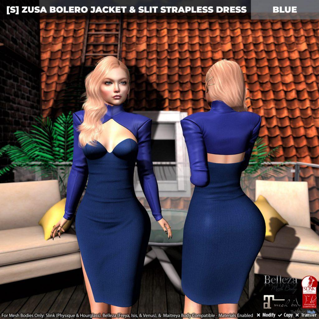 New Release: [S] Zusa Bolero Jacket & Slit Strapless Dress by [satus Inc] - Teleport Hub - teleporthub.com