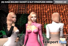 New Release: [S] Zusa Bolero Jacket & Slit Strapless Dress by [satus Inc] - Teleport Hub - teleporthub.com