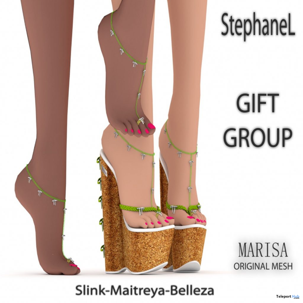 Marisa Shoes July 2020 Group Gift by StephaneL - Teleport Hub - teleporthub.com