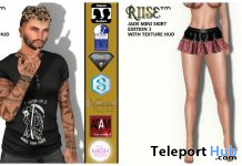 Carter Tee Edition 4 & Jade Mini Skirt Edition 3 July 2020 Group Gift by RIISE - Teleport Hub - teleporthub.com