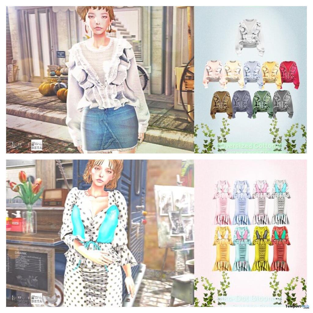 New Release: Blouse & Polka-Dot Bloom Set Up Dress by {amiable} @ Shiny Shabby July 2020 - Teleport Hub - teleporthub.com
