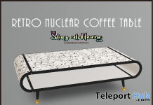 Retro Nuclear Coffee Table July 2020 Gift by Demimonde - Teleport Hub - teleporthub.com